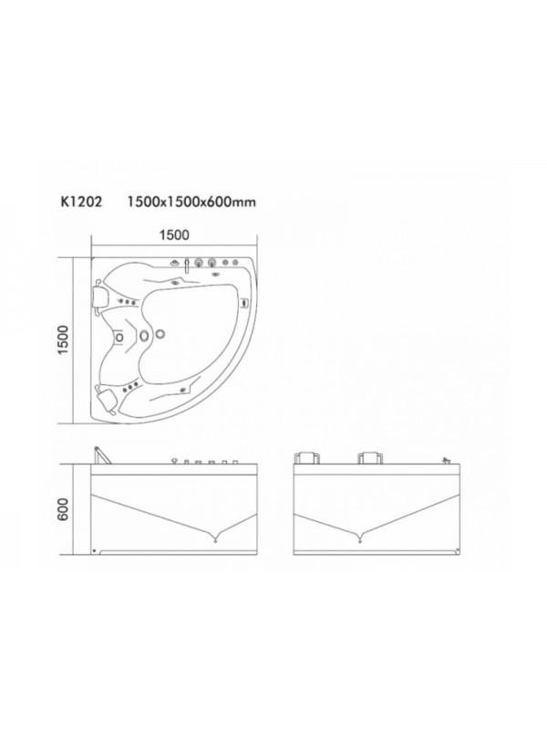 KARAG K-1202 Μπανιέρα Υδρομασάζ 150x150