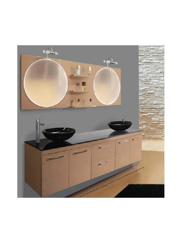 DESIGN 1321 Capuccino Έπιπλο Μπάνιου Λάκα 175x50