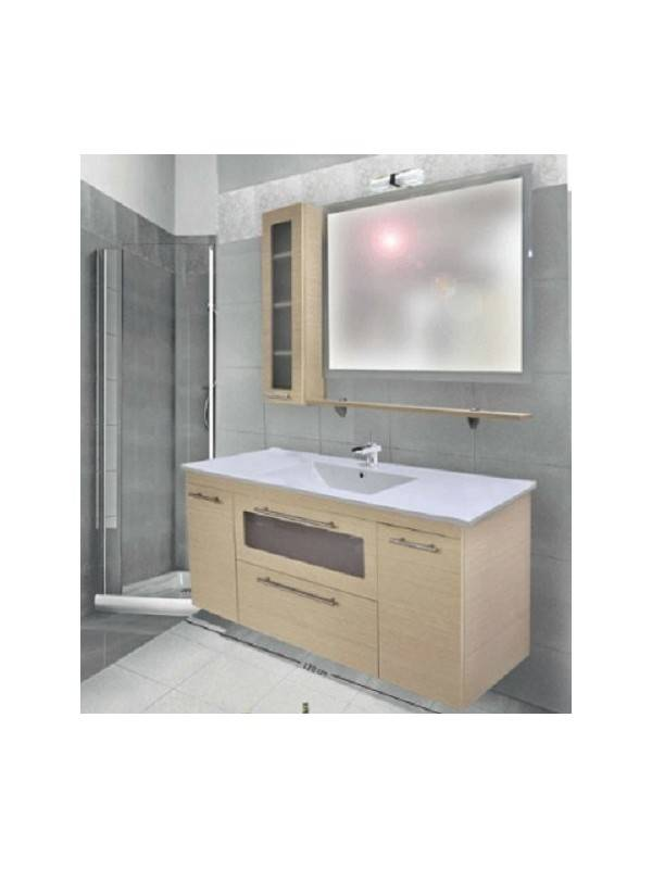 DESIGN 1333 Έπιπλο Μπάνιου MDF Rovere120x46